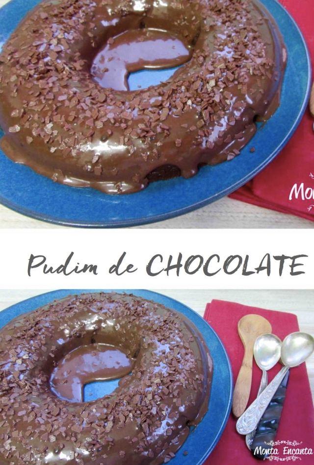 Brigadeirão com Cobertura ou Pudim de Chocolate!