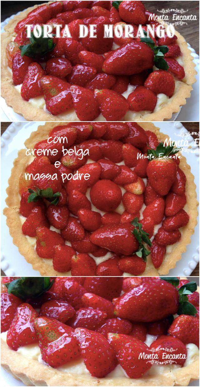 torta de morangos