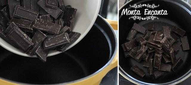 Brigadeiro Gourmet com chocolate em barra