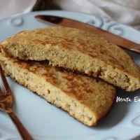 Pão Fit de Frigideira sem glúten, com banana e aveia!