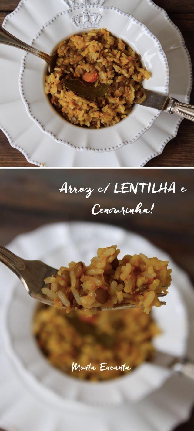 Arroz com Lentilha e cenourinha