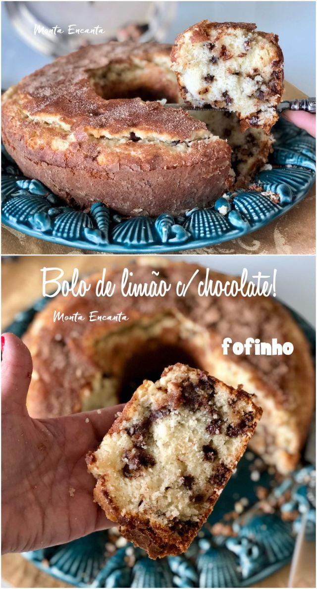 bolo de limão com chocolate