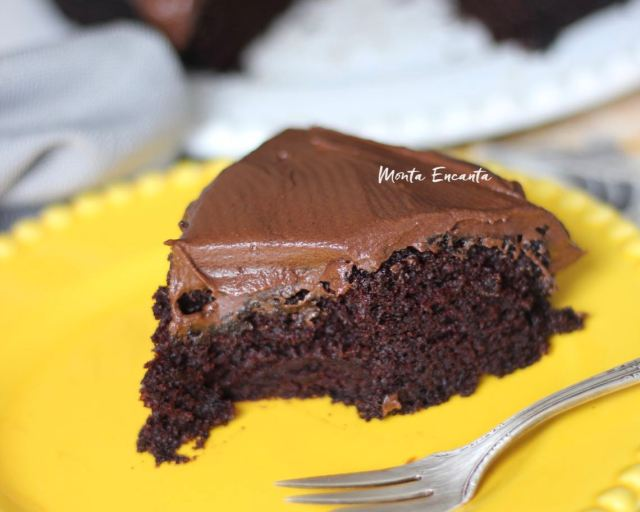 Cobertura para bolo de chocolate em 1 min