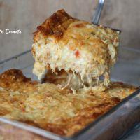 Torta de tapioca com frango cremoso e sem glúten
