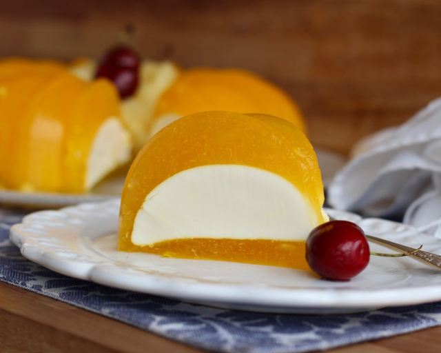 gelatina mágica de cheesecake