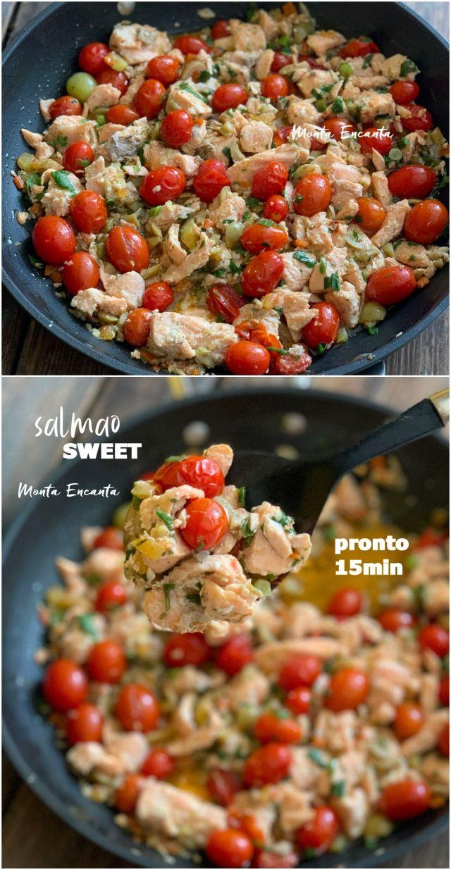 salmão sweet refogado