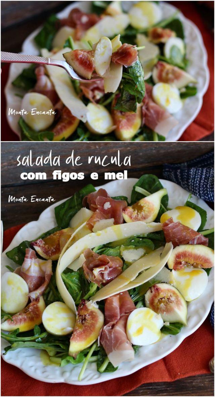salada de rúcula com figo