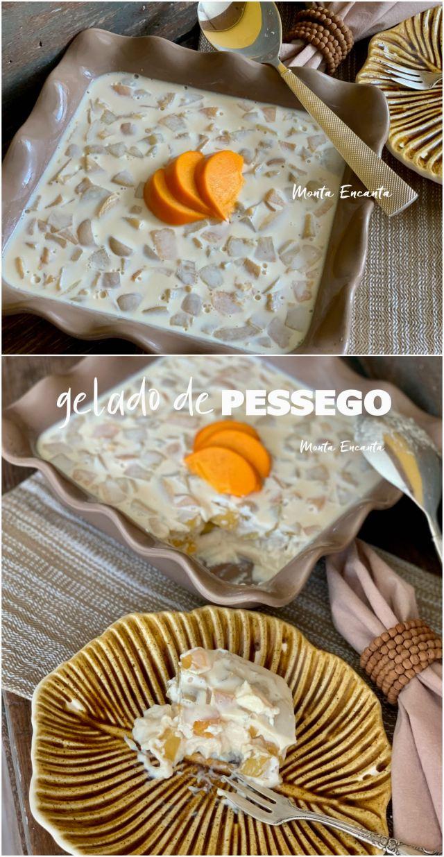 gelado de pêssego