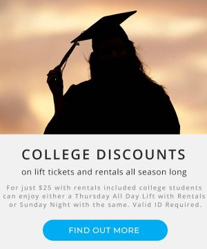 College Discounts | Montage Mountain Resorts | College