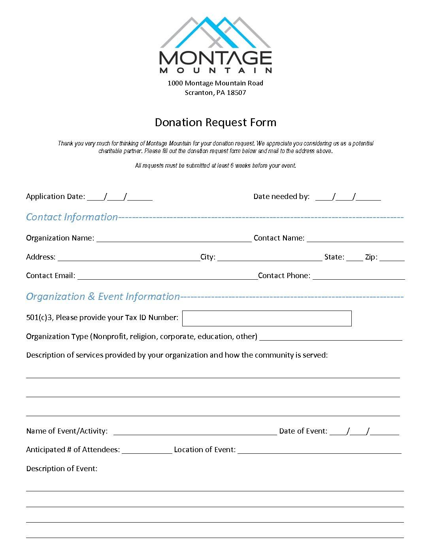 Ski Donation Request