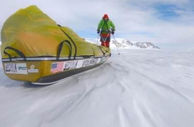 Colin O'Brady, Lou Rudd, Antartide, record, solo, trekking, Polo Sud