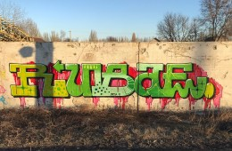 GRAFFITI WRITERS RUBAE AND BIOS IN ODESSA