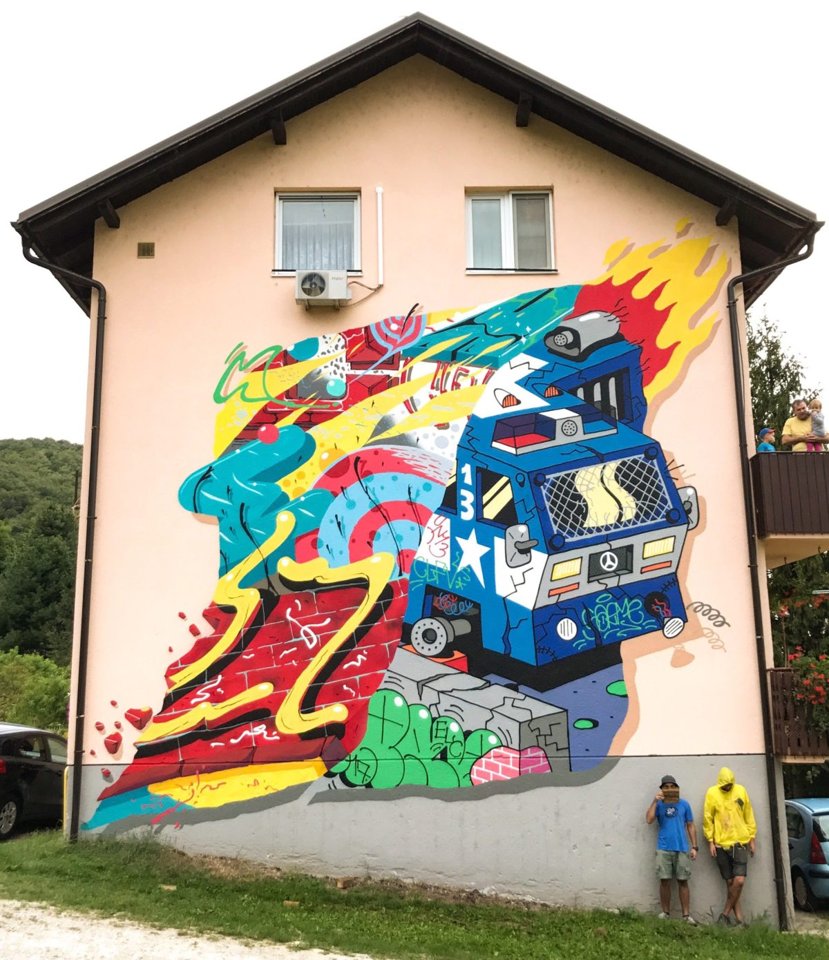 Chez 186 and Sarme mural for Graffiti na Gradele