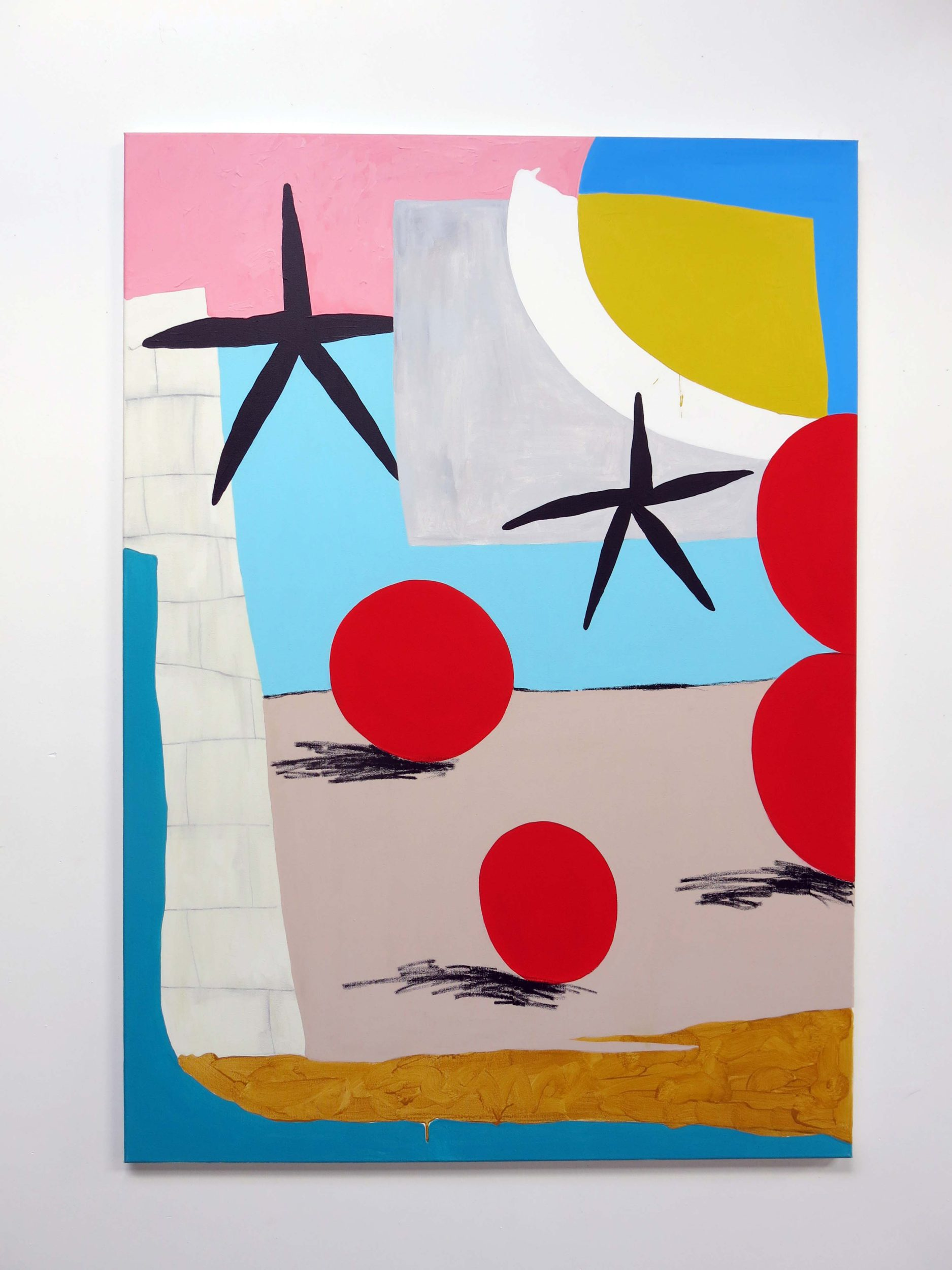 Bruce, Untitled 4, 2018, Acrylics and spray paint on canvas, 100 x 140cm