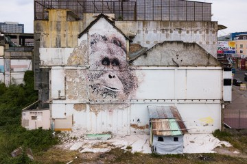 Vhils X Splash and Burn in Sumatra Indonesia