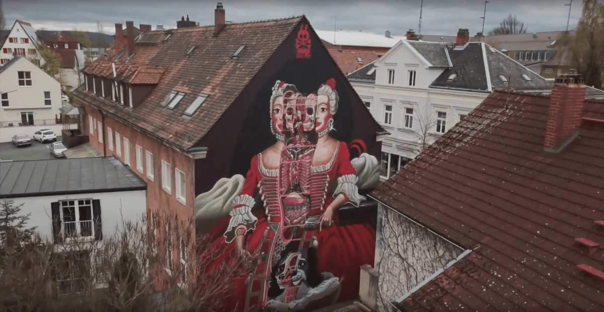 Nychos mural for opening of an Opera in Bayreuth