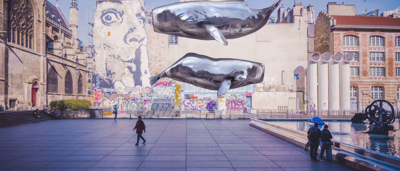 "NEVERCREW ""Sensing machine n°7"" in Paris - Augmented reality"