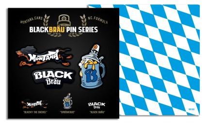 """Special Edition """"BLACKBRÄU"""" pins"""