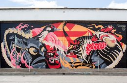 BAGHEAD & UPPERHAND MURAL FOR POW! WOW! HAWAII
