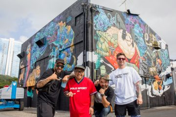 Dragon76, Jose Mertz, SaturnoArt & Woes Mural for POW! WOW! HAWAII