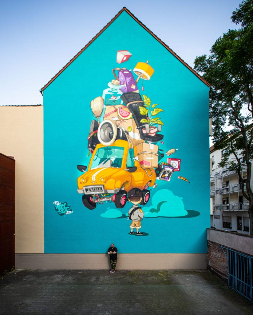 HOMBRE MURAL FOR STADT WAND KUNST