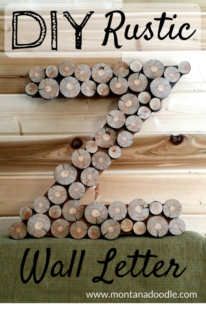 DIY Rustic Wall Letters can add texture and charm to a nursery, bedroom, or any room in the house!