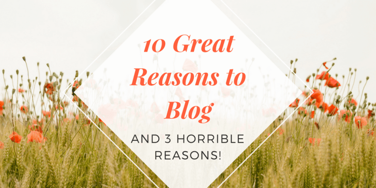best reasons to start a blog