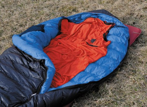 Depending on the bag chosen, the Thermolite Reactor technology increases the temperature of the sleeping bag.