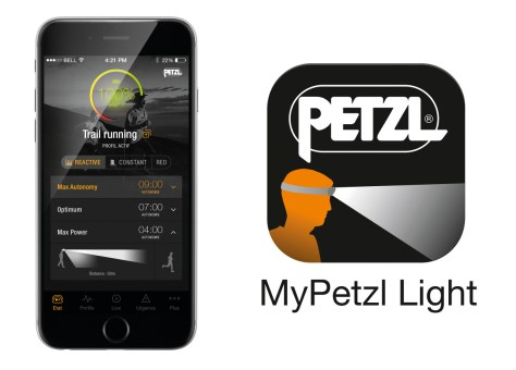 Lampe Frontale Nao Petzl : système Bluetooth