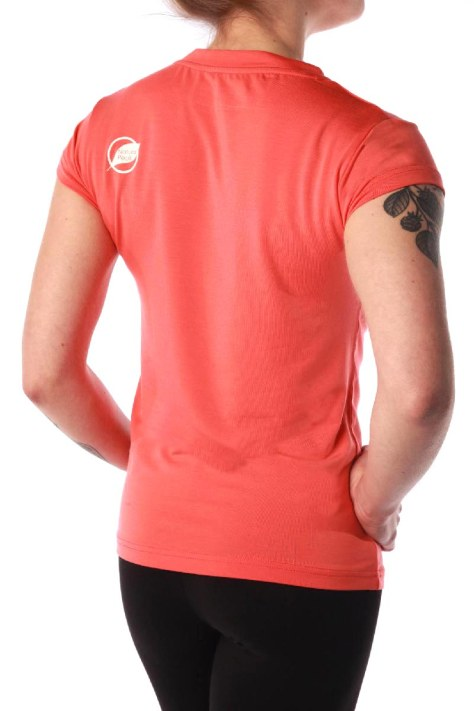 Tee-shirt femme NATURAL PEAK 210 AROUND THE WORLD couleur corail