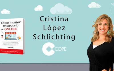 """Cómo Montar Un Negocio Online en el programa """"Fin de Semana"""" de Cristina López (COPE)"""