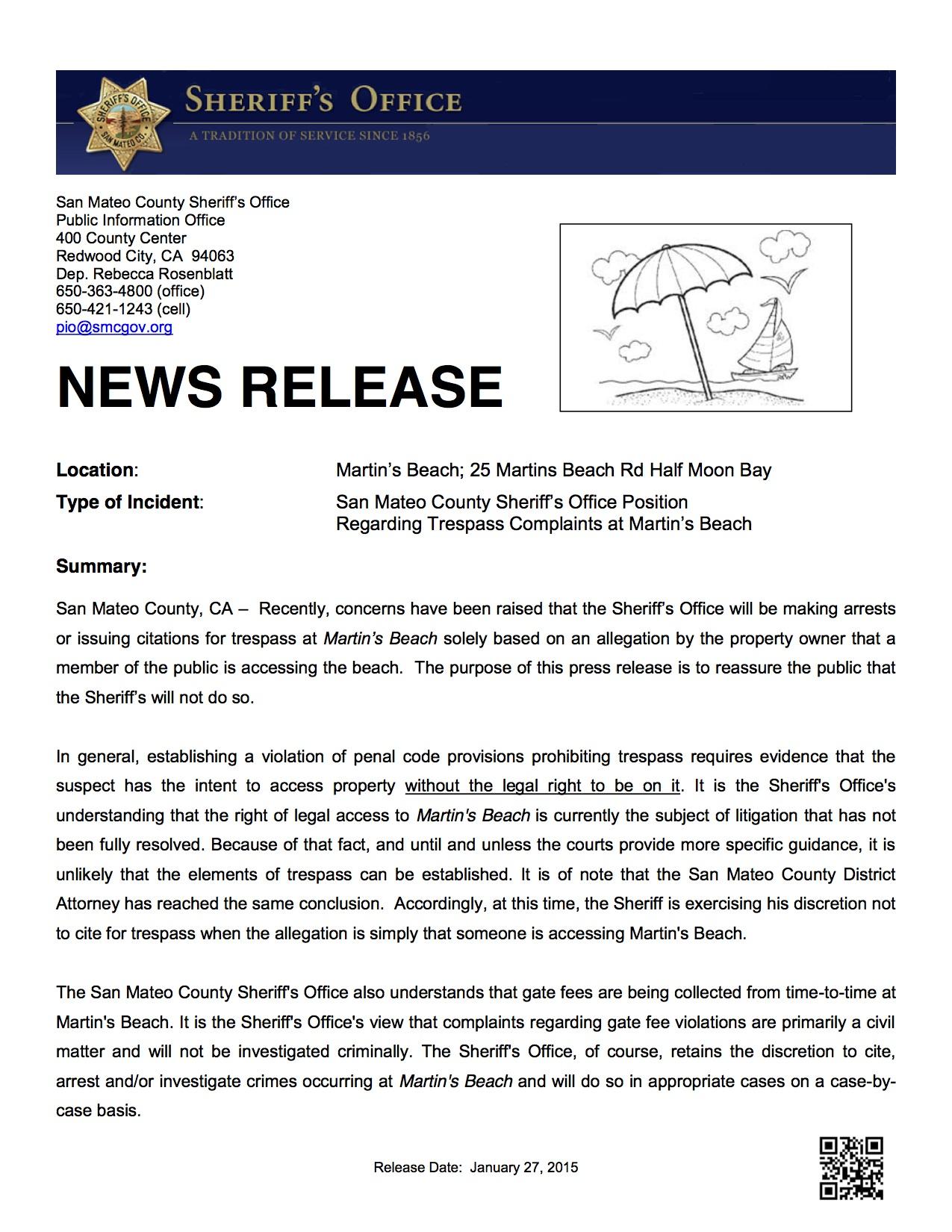 01-27-2015 SMSO Protocol Regarding Martins Beach