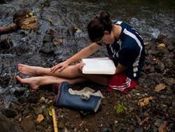 Litter Release - Rio San Lorencito - Downstream 4-4-2009 1-56-10 PM
