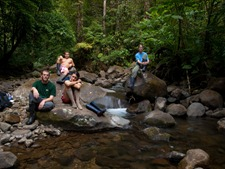 Litter release - Rio San Lorencito - Upstream 4-5-2009 7-09-41 AM