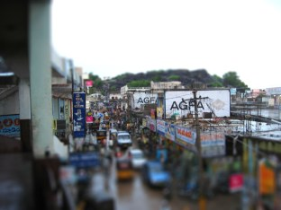 Veiw from Hotel and caterers 2007-06-23 6-38-57 PM-tiltshift