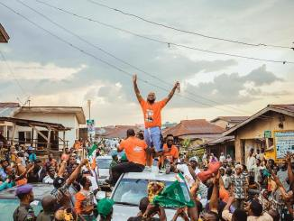 Watch! Davido Organizes Huge Rally For His Uncle, Sen. Ademola Adeleke Gubernatorial Campaign