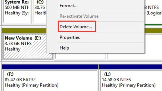 Remove or Delete Disk Partition on Windows PC
