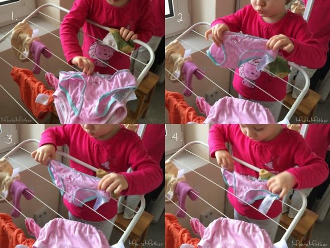 vesanie bielizne Montessori