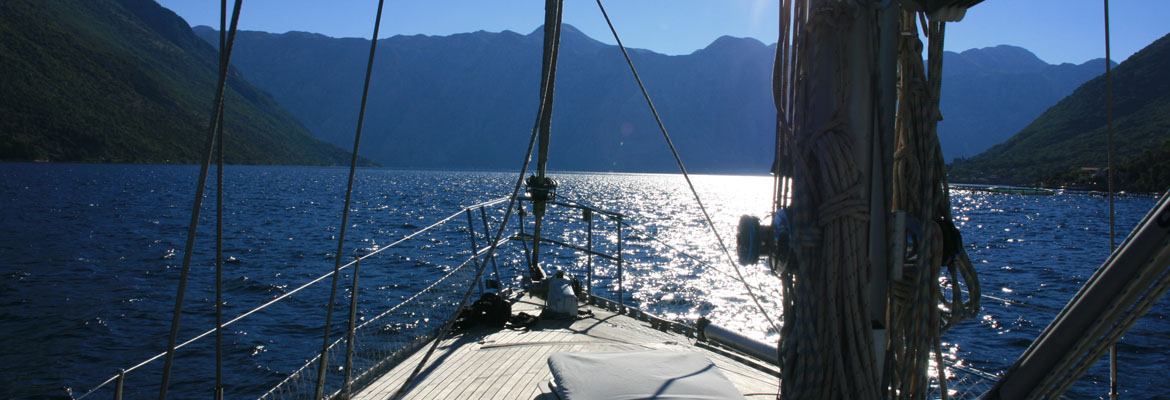 Sailing on Monty B in Kotor Bay Montenegro