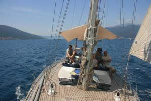 Sailing trips in Tivat Bay Montenegro on Yacht Monty B