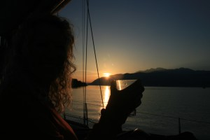 Sunset drinks on Yacht Monty B