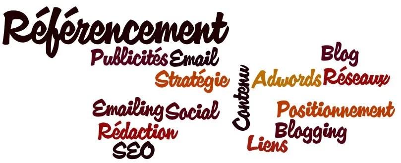 référecnement, adwords, emailing, réseaux sociaux