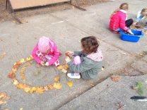 Montessori Grundschule Königs Wusterhausen_Land Art auf unserem Schulhof_2018_6