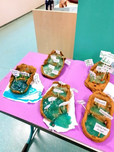 Montessori Grundschule Königs Wusterhausen_Gletscher bauen im GEWI-Untericht