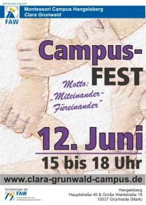 Clara Grunwald Campus_Plakat zum Campusfest 2015