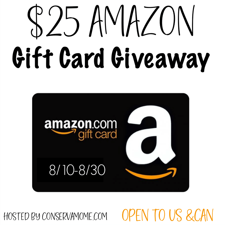 August $25 Amazon Gift Card #Giveaway