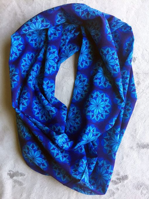 Blue on Blue Infinity Scarf