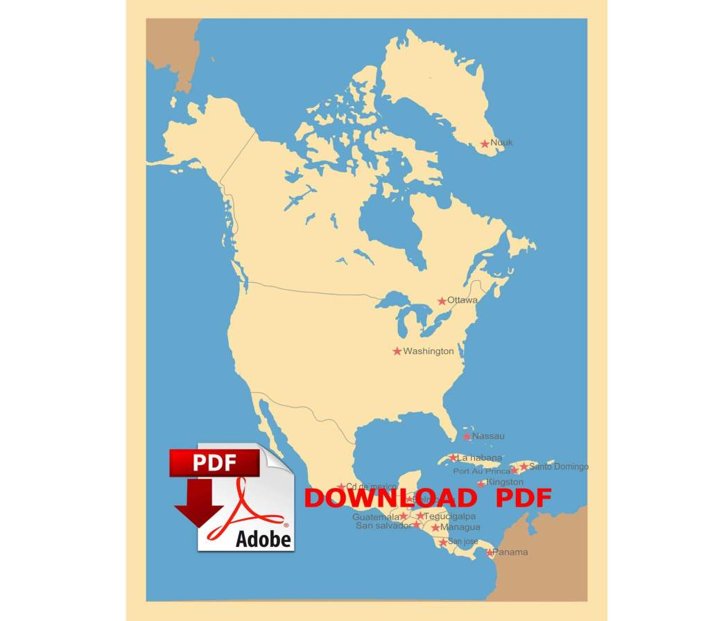 Four Map of North America PDF