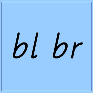 bl and br :: Blue Box 4 – Pictures and Words