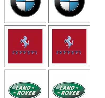 Vehicle Logo (Matching cards)